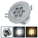 3 Auralum 7 W Reflector LED lámpara de techo focos 650 lm 6000-6500K blanco