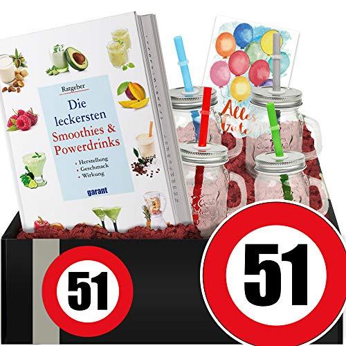 Zahl - 51 | Geschenkset Shakes | 51 Geburtstag Geschenkeset