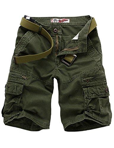 Bestgift Herren Shorts 5 Farbe 5 Größe Kurze Hose ohne Gürtel