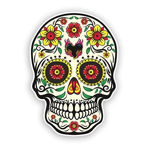 2x Sugar Skull vinyl Aufkleber Scary Horror Halloween Creepy # 7512 - 10cm/100mm ()