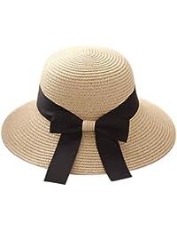 Gorro Elegante Sombrero para El Sol Paja De Sombrero Verano Bastante  Plegable Playa Sol Jazz Gorras b1f1f0375092