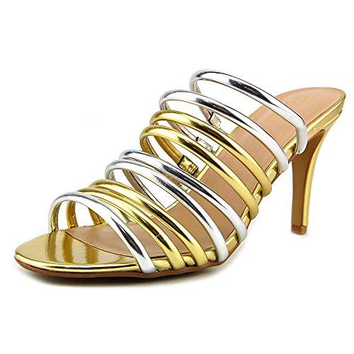 Thalia Sodi Imelda Synthétique Sandales Gold Silver