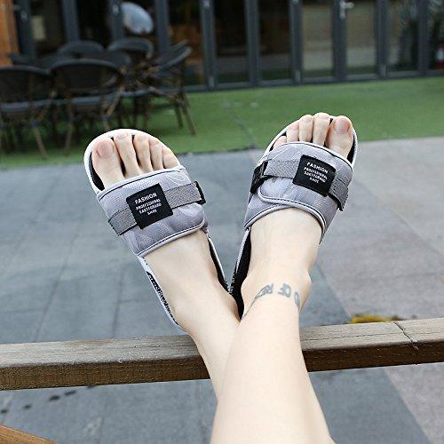Boucle d'été, d'un mot, faire glisser le tissu personnalisé, tide rdp, chaussons, loisirs des jeunes, des chaussures d'hommes gray