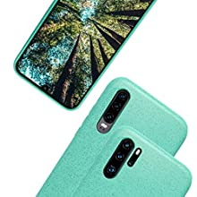 eplanita Eco Case for Huawei P30 Mobile Phone, Biodegradable and Compostable Plant Fibre and Soft TPU, Drop Protection Cover, Eco Friendly Zero Waste (Huawei P30, Mint)