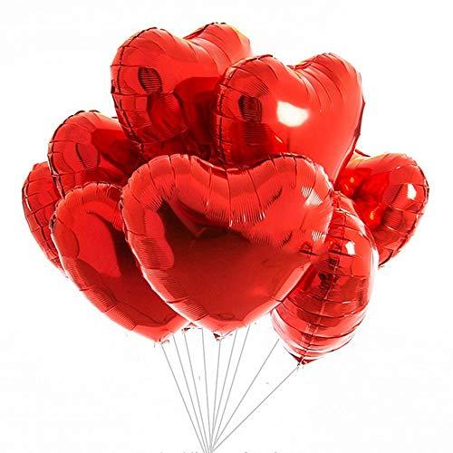 Cojoy palloncini a forma di cuore da 18 pollici, palloncini a elio rosso da 12 pezzi per compleanno, matrimonio, giorno di san valentino, decorazione baby shower party