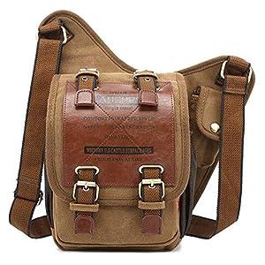 Canvas Männer Schultertasche Messenger Bag Crossbody Bag Umhängetasche