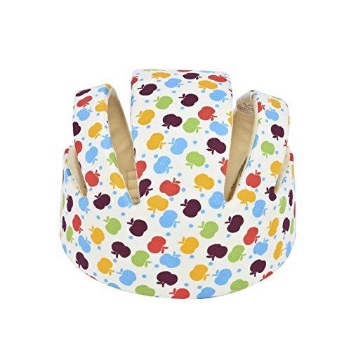 magiin Baby Helmet Schutzhelm Babyhelm Helmmütze Kopfschutzmütze gegen Stöße für Kleinkind aus Weicher Baumwolle Verstellbar Stoßfest (Weiß)