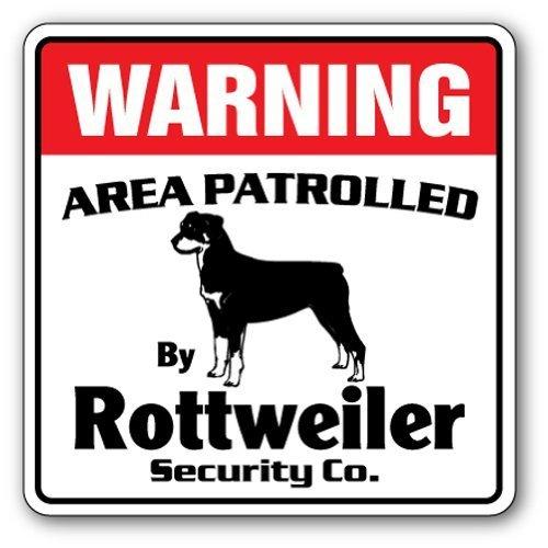 Deko Schilder mit Sprüchen Rottweiler Sicherheit Schild Bereich 'Pet Warnung