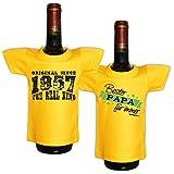 Mini T-Shirt Set Original since 1957 The real king und Bester Papa für immer Flaschenüberzieher Geschenk für das Geburtstagskind zum 61. Geburtstag