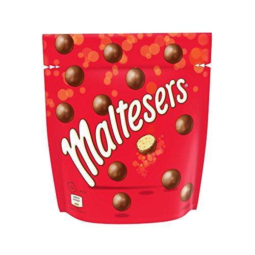 Maltesers Pochon de Billes de Chocolat au Lait/Cœur Soufflé - Lot de 6