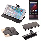 K-S-Trade Flipcover proetciont case for Blackberry Key 2 LE