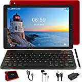 Tablet 10 Pollici IPS Tablet Android 8.1 WiFi e 4G LTE, 32GB ROM + 3GB RAM Quad Core, 64GB Espandibili, Dual SIM Call Doppia Fotocamera GPS Bluetooth Media, Rosso