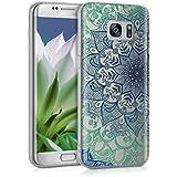kwmobile Étui transparent pour Samsung Galaxy S7 edge Housse de protection en TPU silicone design IMD - cover souple pour portable Design ornement de fleurs