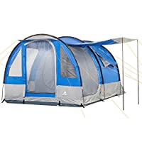 CampFeuer - Tunnel Tent, 4 Person, 410x250x190 cm, blue/grey 26