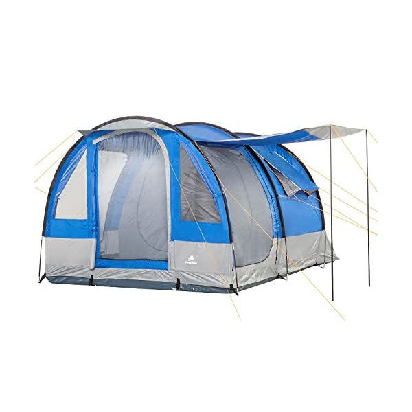 CampFeuer - Tunnel Tent, 4 Person, 410x250x190 cm, blue/grey 1