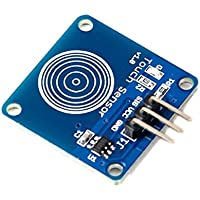 CAOLATOR 1 Canal Digital Sensor Táctil Capacitivo Toque Interruptor Módulo DIY para Arduino o Microcontroller
