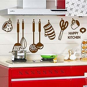 Soled adesivi murales utensili da cucina carta da for Murales per cucina