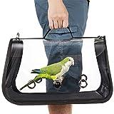 Porta-uccello leggero, gabbia da viaggio per uccelli, pappagallo traspirante trasparente in pvc con un bastoncino di legno