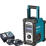 Makita DMR109 10.8v-18v LXT/CXT LI-ion Job Site Radio With 2 x BL1850 5.0Ah Batteries & DC18RC Charger