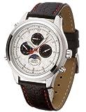 Detomaso Classic Herren-Armbanduhr NAPOLI Mondphase Silber Leder