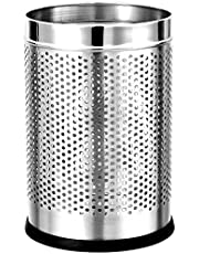 PARASNATH Stainless Steel Perforated Open Bin Dustbin 7X10