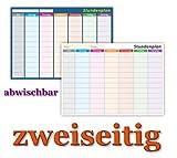 Stundenplan DIN A4 (210 x 297) zweiseitig nass abwischbar