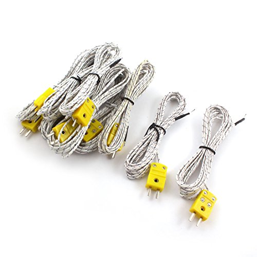 sourcingmap® 10 pièces Type K Température Thermocouple Câble De Capteur -50°c à +200°C 3m