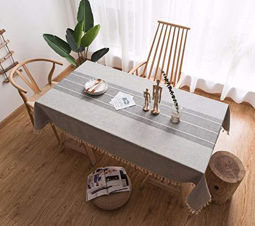 Guoai ricamato in pizzo nappa moderno e minimalista in cotone e lino tovaglia in tessuto soggiorno tavolino tovaglia tovaglia rettangolo,gray,140 * 140cm