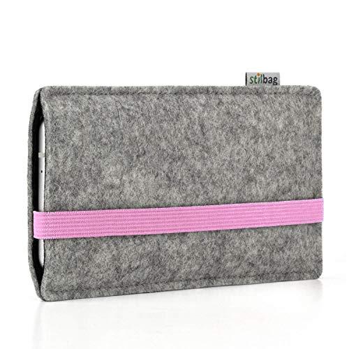 Stilbag Custodia di feltro 'LEON' per Nokia 4.2 - Colore: rosa - grigio
