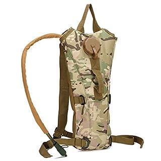 Aogolouk 3 Liter Rucksack Wandern Wasserbeutel camelbak Nylon Militär tarnt Trinkrucksack (Camouflage hill)