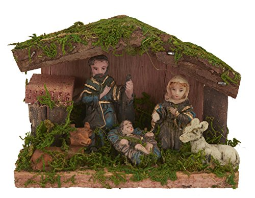 VBS Miniatur-Krippe Weihnachtskrippe Jesus, Maria und Joseph Figuren 9 cm hoch