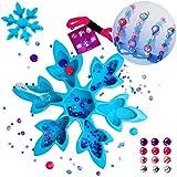 alles-meine.de GmbH XL Bastelset _ Schmuck - Armbänder & Ketten -  Disney Frozen - die Eiskönigin  - viele Glitzer Perlen & Schmuckorganizer Schneeflocke - Kinderschmuck / Kind..