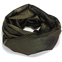 Dcolor Foulard Echarpe Cheche Cache-Col Camouflage Tactique Militaire Armee Police Moto jungle camouflage