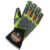 Ergodyne ProFlex 925F (X) Impact reduziert Arbeitshandschuhe mit Rückseite Hand Schutz, lime, mittel, Set von 2Stück