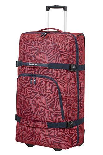 Samsonite Rewind - Reisetasche mit Rollen XL, 82 cm, 113 L, rot (Capri Red Stripes)