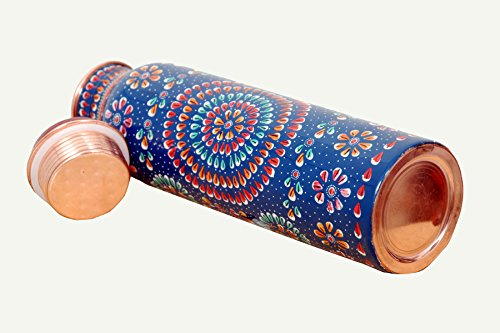 FAVIO 100% Pure Copper Water Bottle for Ayurvedic Health Benefits 950ML Joint Free & Leak Proof