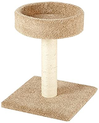 AmazonBasics Cat Activity Tree with Scratching Posts, Small/Medium/Large