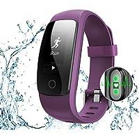 Bracelet Sport Activité Avec GPS, NickSea Montre Connectée Etanche IP67 Fitness Tracker d'Activité Bluetooth avec Cardiofréquencemètres, Podomètre, Distance, Calorie, Notification Appel & SMS - Violet