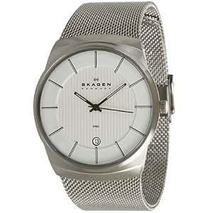 Skagen Herren-Armbanduhr XL Analog Quarz Edelstahl 780XLSS