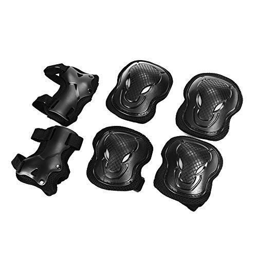 Schutzausrüstung Set für Jugendliche Erwachsene Schoner Set mit Handgelenkschoner Knieschoner Ellenbogenschoner Schützer Set für Junge Mädchen Damen Herren Protektoren Set für Skateboard Roller M