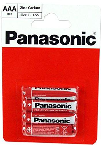 PANASONIC SIZE AAA 1.5V ZINC CAR...