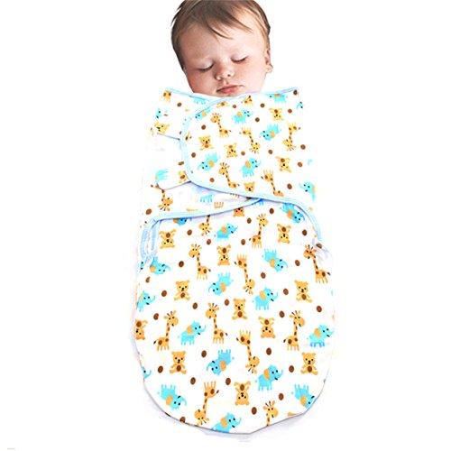 Lalang Baby-Schlafsack, Ganzkörper Pucksack Dschungel Wickeln Swaddle Strampelsack (Giraffe)