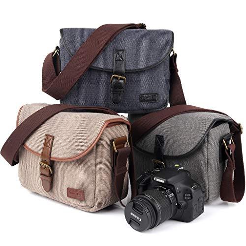 Weishazi custodia borsa retro borsa a tracolla impermeabile Sling photo video digitale rimovibile da viaggio per Canon Nikon Sony DSLR EOS 200D 77D 80D 800D 1300D 7D 70P3E6 1