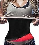 Neopren Abnehmen Gürtel Hot Taille Trainer Korsett Trimmer Cincher für Weight Loss Frauen und Männer (L Fits 30.7-33.8 Inch Waistline, Red)
