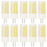 G4 LED Lampe 5W Ersetzt 40W Energiesparlampe AC220-240V, 44 * 2835 SMD LED Leuchtmittel 360°Abstrahlwinkel Warmweiß 10er Pack
