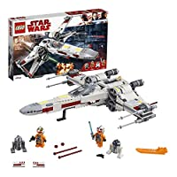 LEGO 75218 Star Wars X-Wing Starfighter with Luke Skywalker, Biggs Darklighter, R2-D2 and R2-Q2 Robot Droids, Rebels Set