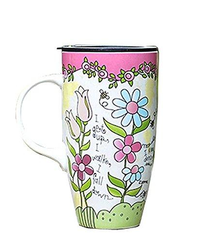 La Grande contenance Creative Mug Peinture Tasse en céramique Fleur de £ ¨ £ ©