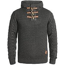 Redefined Rebel Mason Herren Winter Pullover Strickpullover Grobstrick  Pullover mit Kapuze 51601c0551