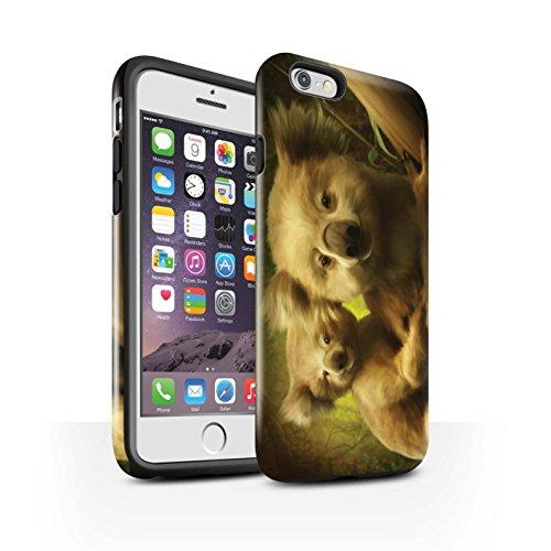 Officiel Elena Dudina Coque / Brillant Robuste Antichoc Etui pour Apple iPhone 6S / Endormi/Tigré Chat Design / Les Animaux Collection Koalas/Escalade d'Arbres
