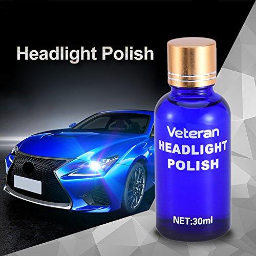 Kit Rénovation Phare Voiture Auto Renovateur Phares Polish Liquide Polissage Manteau Voiture par sweetlife(8pcs)